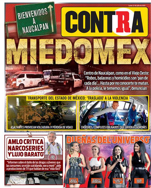 Portada Contra 22-07-2019