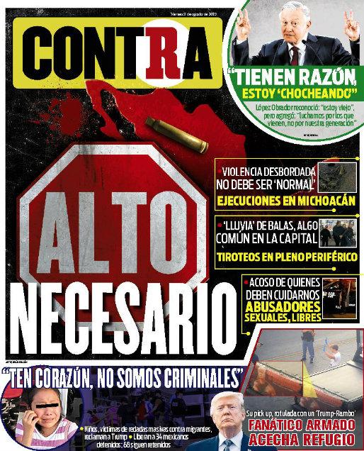 Contra Portada RÉCORD 2019-08-09