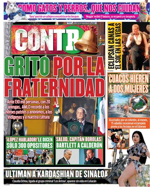 Portada Contra 16-09-2019