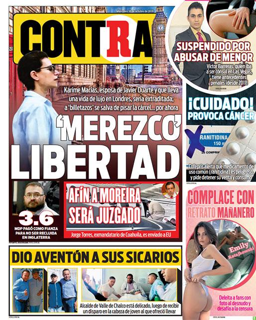 Portada Contra 30-10-2019