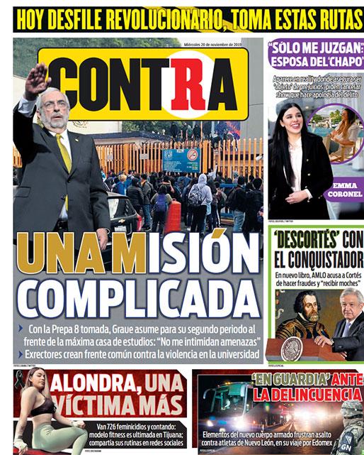 Portada Contra 20-11-2019