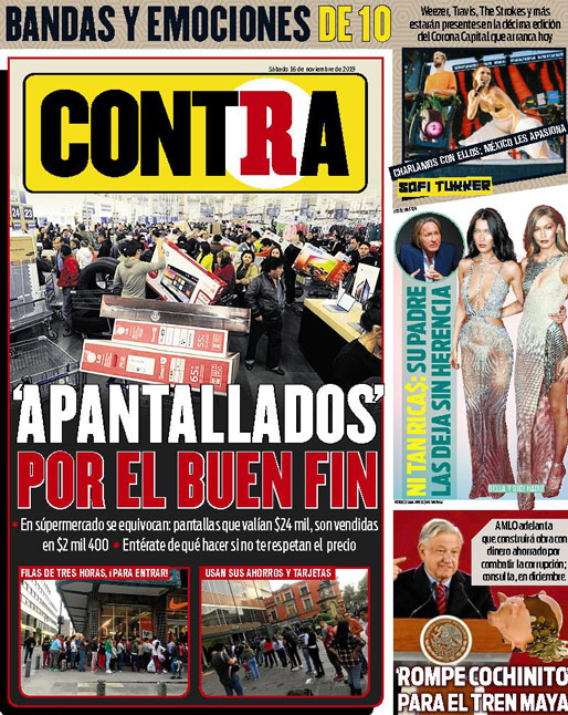 Contra Portada RÉCORD 2019-11-16