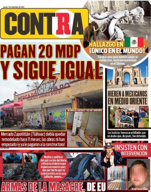 Contra Portada RÉCORD 2019-11-07