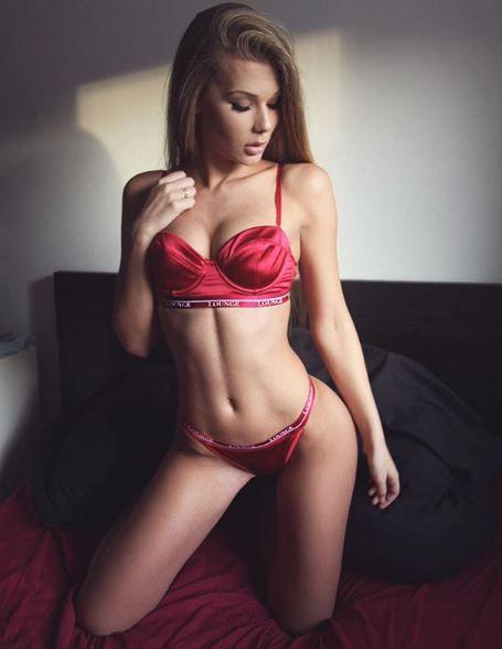 Una sensual modelo croata