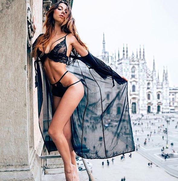 Es una sensual modelo de origen italiano
