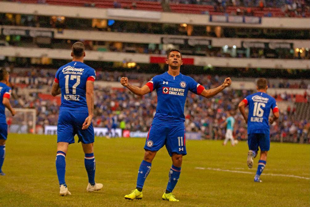 Elías festeja su gol