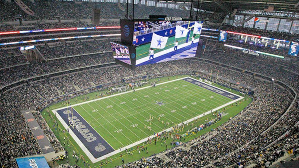 El AT&T Stadium visto desde arriba