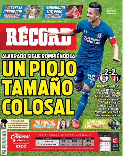 Roberto Alvarado es el alma ofensiva de Cruz Azul