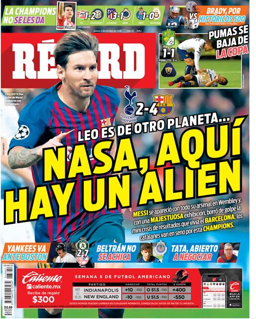 Leo Messi es de otro planeta