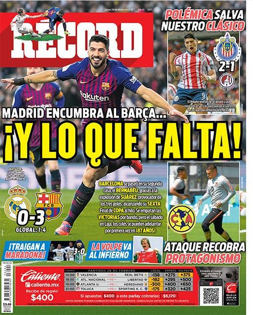 Real Madrid encumbra al Barcelona