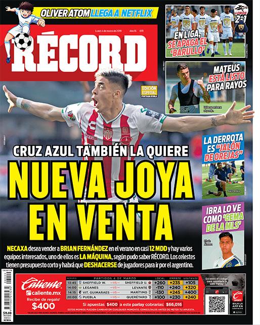 Cruz Azul quiere a Brian Fernández