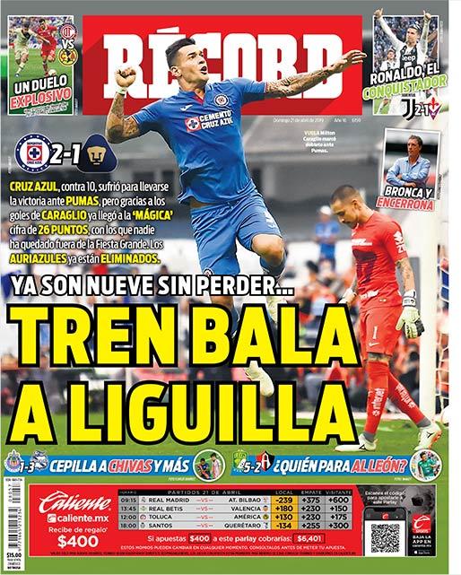 Cruz Azul suma nueve partidos sin perder