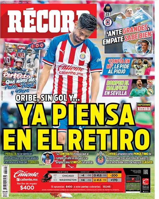 Oribe Peralta ya piensa en el retiro