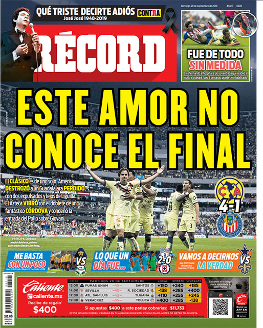América destrozó a un Guadalajara perdido