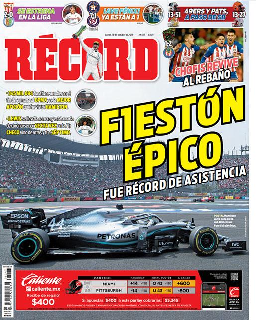 Gran Premio de México, de récord de asistencia