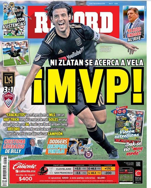 Carlos Vela ya es leyenda en la MLS
