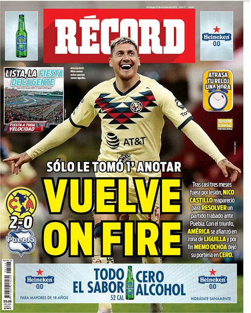 Nico Castillo volvió 'on fire'