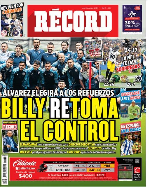 Billy Álvarez retoma el control