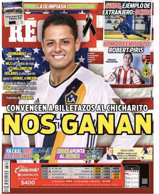 Nos ganan a Chicharito