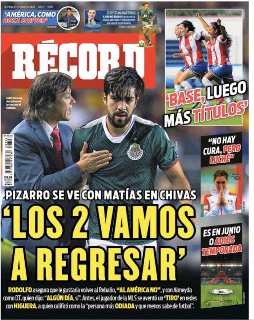 Pizarro y Almeyda quieren volver a Chivas