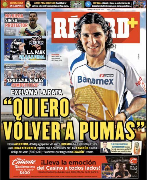 Martín Bravo quiere volver a Pumas