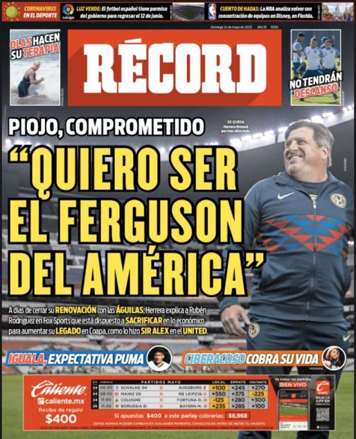 Miguel Herrera quiere ser el Ferguson del América