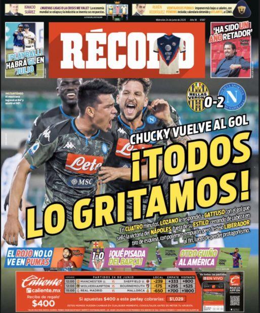 Chucky Lozano volvió al gol