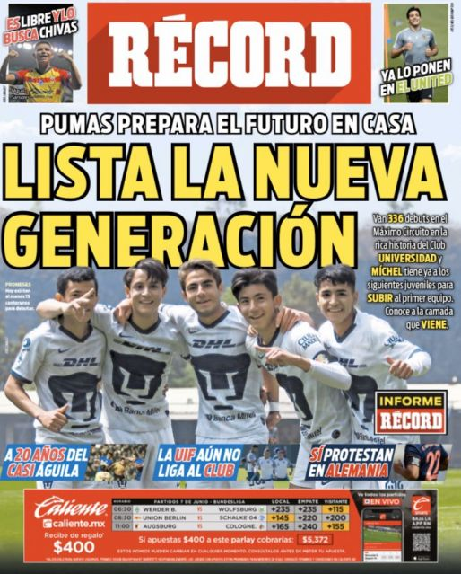Lista la nueva generación de Pumas