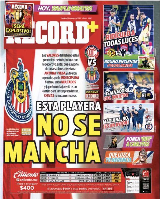 La playera de Chivas no se mancha