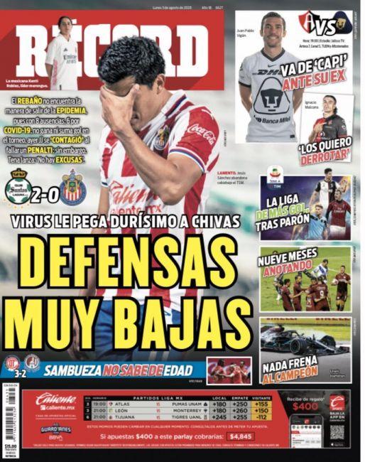 Virus le pega durísimo a Chivas