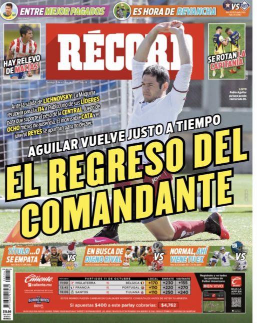 El regreso de Pablo Aguilar