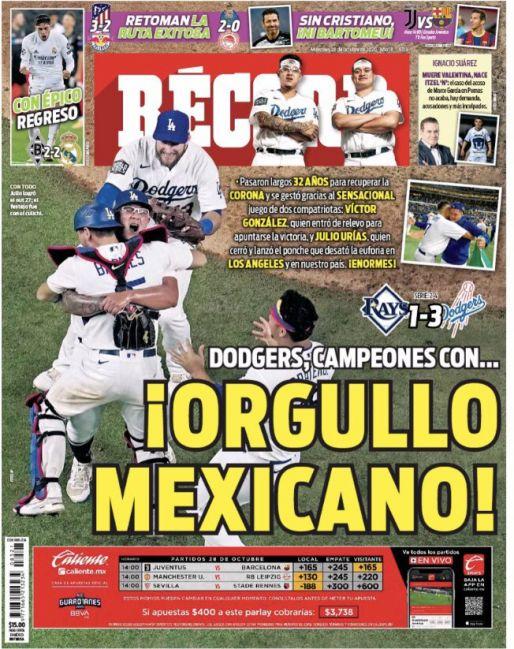 Dodgers, campeones con orgullo mexicano