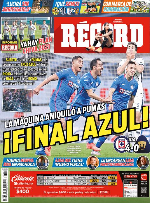 La Máquina aniquiló a Pumas, ¡Final Azul!