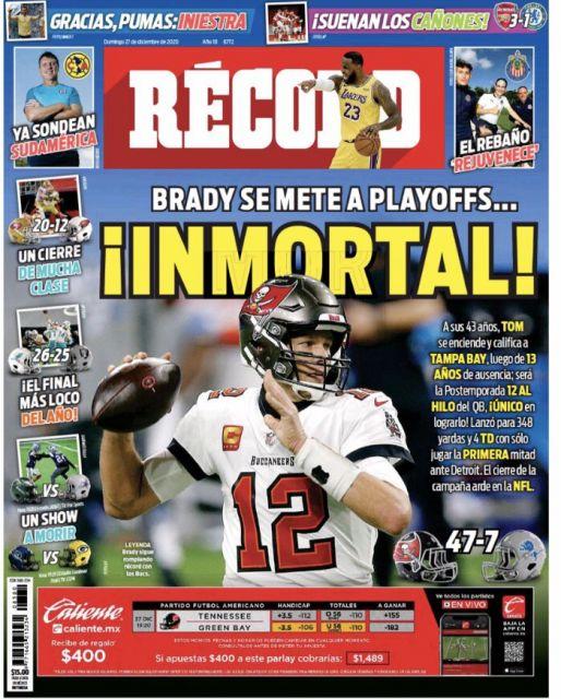Tom Brady es inmortal