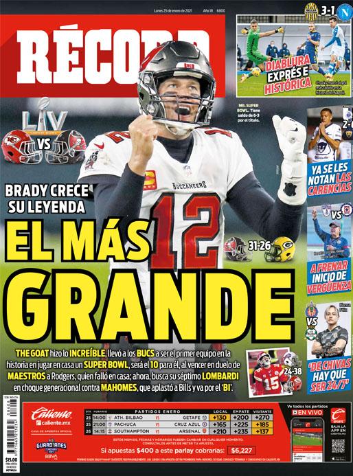 Brady crece su leyenda, el más grande
