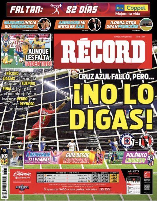 Cruz Azul falló para lograr récord de puntos