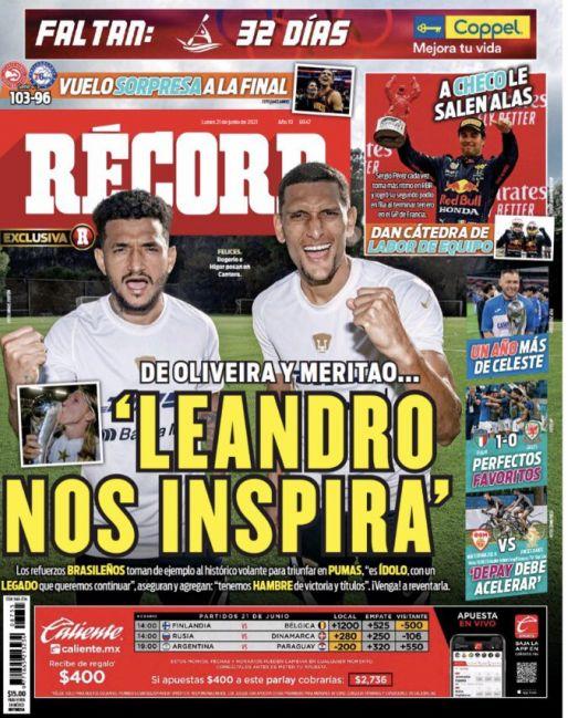 Oliveira y Meritao se inspiran en Leandro Augusto