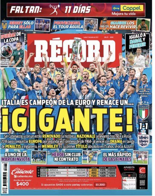 Italia es campeón de la Eurocopa