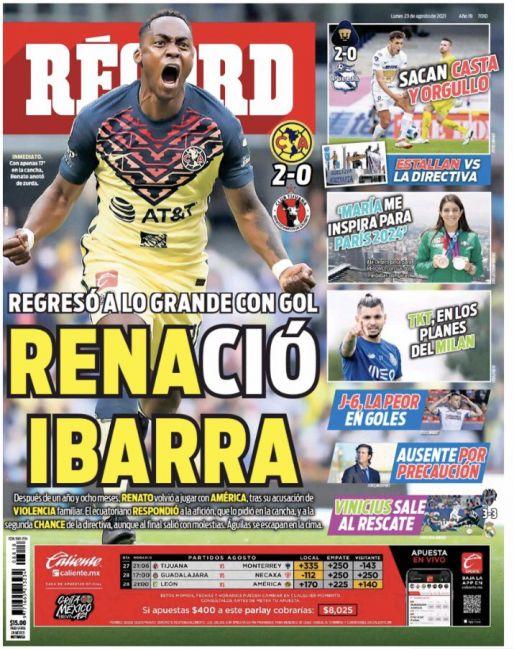 Renato Ibarra regresó en grande