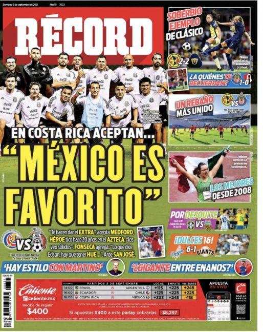 'México es favorito', aceptan en Costa Rica