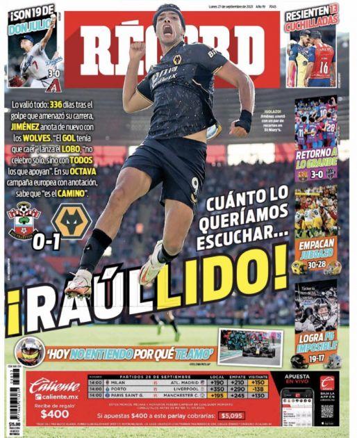 Raúl Jiménez anotó tras 336 días