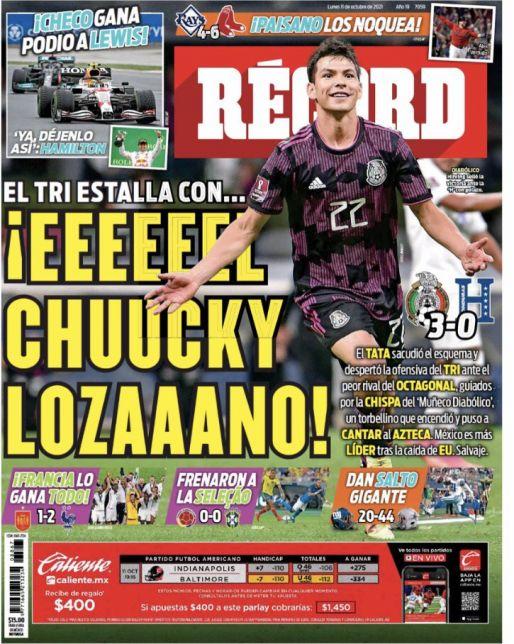 Chucky Lozano guía al Tri