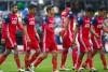 Jugadores de Chivas en el Estadio Azteca