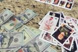 Narcolotería con imágenes de El Chapo y La Barbie