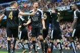 Así festejaron los futbolistas del Leicester tras anotarle al City