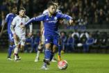 Hazard dispara en partido con el Chelsea