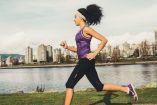 Una corredora durante una práctica