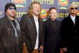 Jason Bonham, hijo del fallecido baterista John Bonham; el cantante Robert Plant, el bajista John Paul Jones, y el guitarrista Jimmy Page, en un evento en 2012
