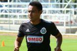 Gallito Vázquez durante un entrenamiento con las Chivas