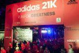 Arco de salida de la  Carrera Adidas 21K en el Paseo de la Reforma